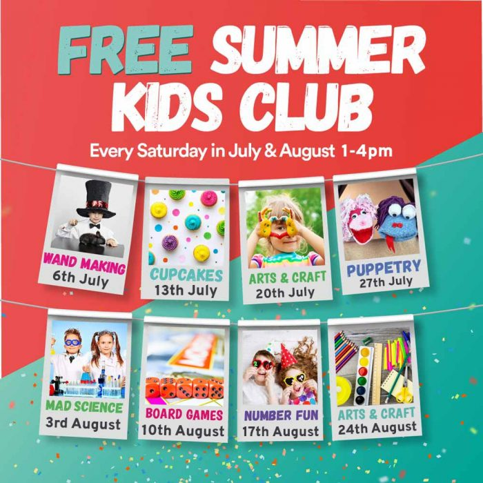 Free Summer kids club at Quayside.