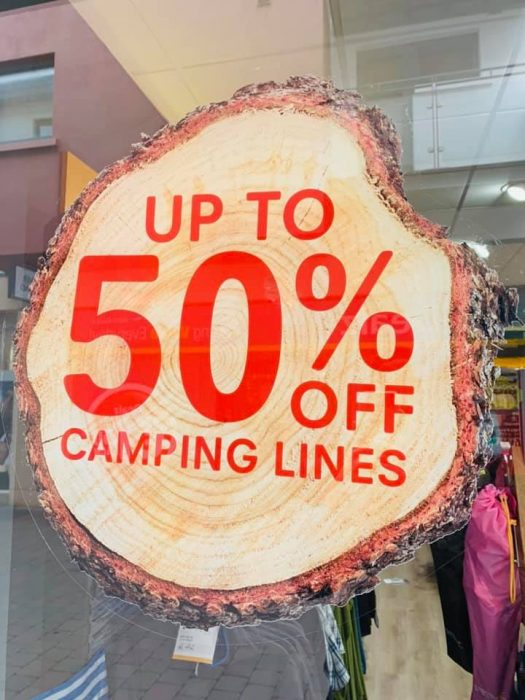 Up to 50% off camping lines