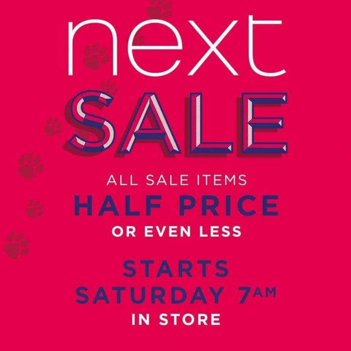 NEXT SALE SLIGO