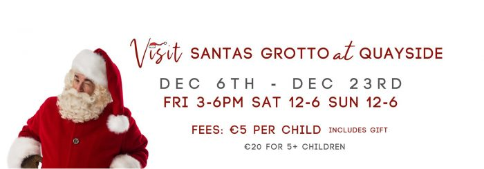 Visit Santa's grotto at Quayside