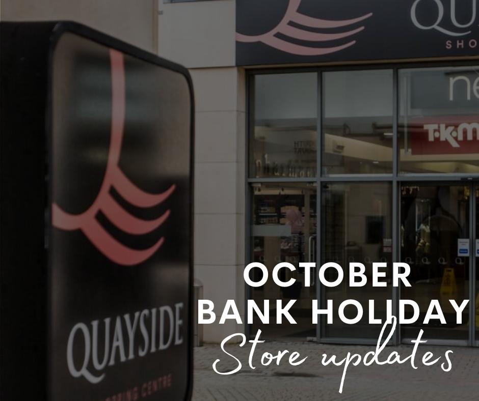 Quayside bank holiday shopping