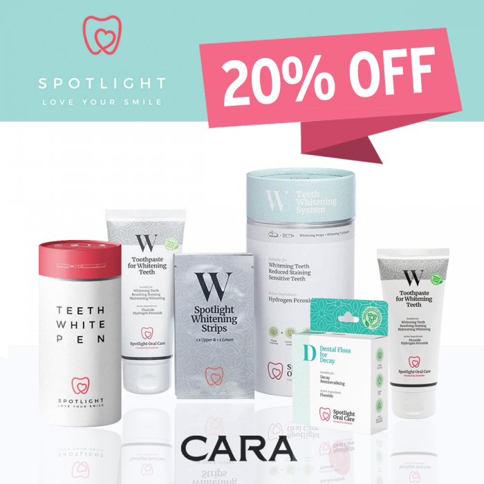 20% off oral care at cara pharmacy